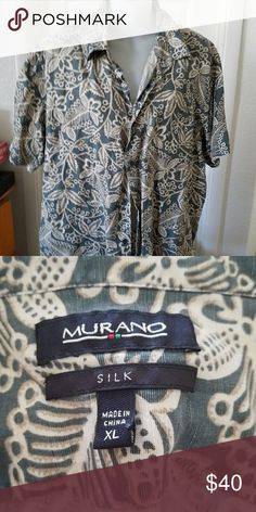 28e74d984232f Murano Men's VTG Hawaiian Print Shirt Silk Nice silk shirt in excellent  condition size XL Murano Shirts Casual Button Down Shirts