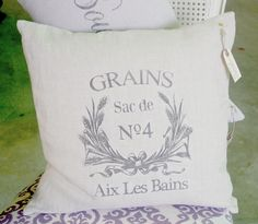 French inspired pillows, tea towels and market bags by Ugly Duckling Transformations