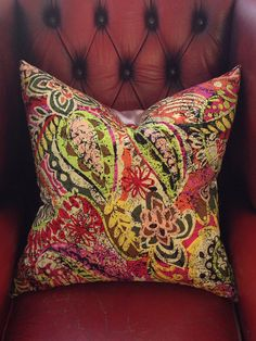 decorative pillow cover 24 x 24 pillow cover cotton by JuneThirty, £28.00