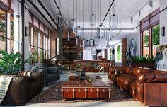 Arredamento stile industriale per loft 10