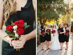 Black and Red Fall Wedding at www.cedarwoodweddings.com Photo by Nashville Wedding Photographer | KRISTYN HOGAN