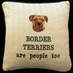 Border Terrier Embroidered Cushions. Now you can pamper yourself and not just your pet with these superb Border Terrier Cushions. 	 $