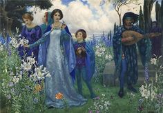 23silence:  Harry George Theaker (British,1873-1954) - A song of...