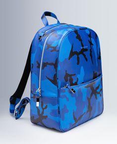 Camouflage Leather Backpack. #Bugatchi #mensfashion #backpack