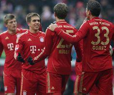 Ribery, Gomez, Muller, Lahm, Schneider. Dream team, UFEA League Champs!