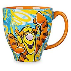 Tigger Pattern Mug | Disney Store Put some spring in your step this morning, as Tigger fills every last drop of coffee, tea or cocoa with bouncey, trouncey, flouncey, pouncey fun, fun, fun, fun, fun!