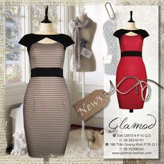 ✿ 334 CMT8 P.10 Q.3 ☏ 08 39316191 ✿ 186 Trần Quang Khải P.TĐ Q.1 ☏ 08 35268242 ✿ Đầm công sở, đầm dự tiệc, thời trang công sở, #Glamod #fashion #dress