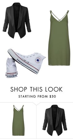 """Untitled #268"" by sierrapalmer10 on Polyvore featuring Topshop, LE3NO and Converse"