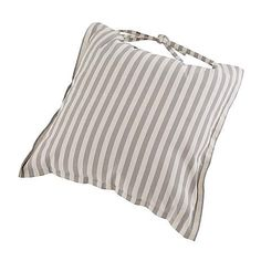 Linen Stripe Cushion Seat Pad | Dunelm