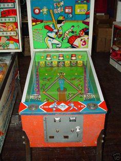 """1966 Fun Ball """"Midway """" Pinball Machine"""