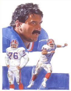 Fred Smerlas, Buffalo Bills by Jim Auckland, 1990 Nfl Football Players, Iron Art, Buffalo Bills, Sports Art, Sports Illustrated, Auckland, Illustrators, Baseball Cards, Sketchbooks