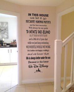 Vinyl wall art  Disney inspired