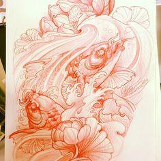 Sin título : Photo Japanese Tattoo Art, Japanese Tattoo Designs, Japanese Art, Carp Tattoo, Koi Fish Tattoo, Tattoo Goo, Koi Tattoo Design, Koi Kunst, Tiger Tattoodesign