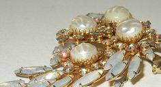 Vintage Beau Jewels Style Faux Pearl Rhinestone by andiehaynes, $37.00