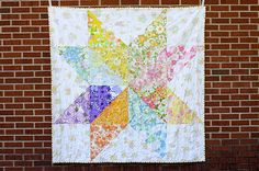 Giant Vintage Starflower Quilt  Would make a good YW quilt