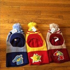 3 items -Crazy ✅✅Sale Kids Mask hats/hood/winter ✅ Kids Mask hats/Winter hats/hood/mask Pom-pom kids winter hats.  umbrella  star Puppy H.B. Vidai  Accessories Hats