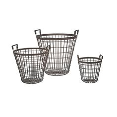 You can never have enough baskets around the house! Whether you use them as waste baskets, laundry hampers, or toy organizers, these space-saving and life-organizing systems work hard for you and your home.