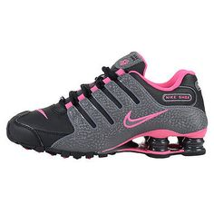 de4c6c304206 Nike Shox NZ Womens 636088-026 Black Grey Pink Running Training Shoes Size  6.5 Running