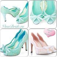 туфли бирюзового цвета на свадьбу, туфли цвета тифани, свадебные мятные туфли, туфли от Viva Bride