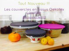 Les couvercles OekoTex lavables #zerodechet #ZCZD #zerowaste