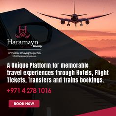 #Haramayn Group- A Unique Platform for memorable travel experiences through #Hotels, #Flight #Tickets, #Transfers and #trains #bookings.  https://haramayngroup.com/  #haramayngroup #Travelling