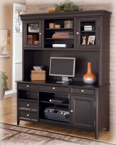 carlyle home office tall desk hutch