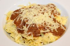 Tortellini (ricotta and spinach + prosciutto) with aubergine, tomato and basil sauce