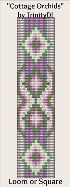pretty design for beading this would also make a nice cross stitch or needlework project!!
