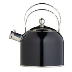 Classic Collection 2.3 Litre Black Whistling Kettle