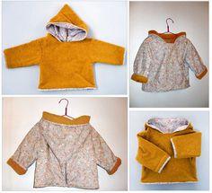 Voilà ma veste magique du défi couture de novembre. Elle est moutarde (défi du 11 novembre: là). Une face polaire moutarde donc,...