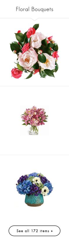 """Floral Bouquets"" by franceseattle ❤ liked on Polyvore featuring flowers, plants, fillers, backgrounds, decor, home, home decor, floral decor, pink bouquet and lily bouquet"