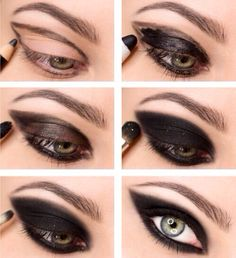 Simply dark eye make-up for party