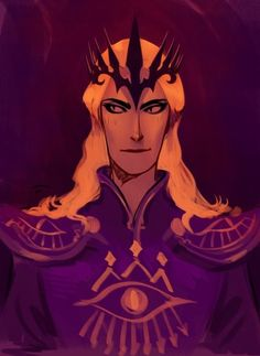 """Sauron fan art, but with the color scheme and the eye, all I could think was """"OMG I know who Cecil should cosplay!!!!"""""""