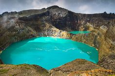 Mountain Kelimutu Blue Lakes - Flores Island, Indonesia