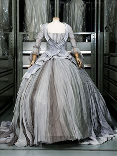 """Marie-Antoinette"" dress, grey polyester tulle, Olivier Theyskens for Rochas, ghostly dress inspired by ""Marie-Antoinette"" movie (S. Coppola), 2006 #rococco return"