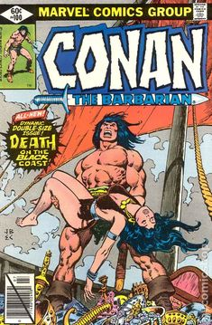 conan the barbarian comic book covers marvel   Conan the Barbarian comic books— issue 100