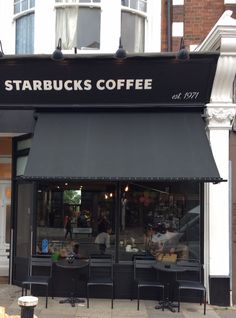 Another Victorian Awning or Traditional Shop Blind for Starbucks by Deans Blinds And Awnings