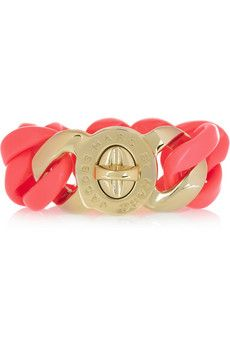 Marc by Marc Jacobs fluoro-pink brass bracelet. I am SO getting this.