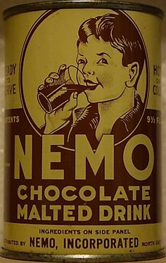 Looking for an awesome Nemo Chocolate Drink can! Chocolate Malt, Soda, Canning, Drinks, Awesome, Drinking, Beverage, Soft Drink, Home Canning