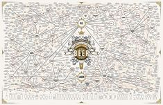 megabeer. Web like structure with shape, pattern, colour and fluidity