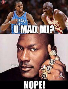 Kevin Durant beats Michael Jordan's record with 41... - http://nbafunnymeme.com/uncategorized/kevin-durant-beats-michael-jordans-record-with-41