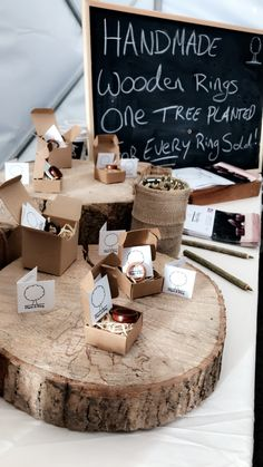 One Tree, Wooden Rings, Handmade Wooden, Place Cards, Place Card Holders, Plants, Wood Rings, Plant, Planets