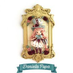 Polymer Clay Dolls, Clay Creations, Challenge, Clock, Sculpture, Frame, Wall, Instagram, Handmade Dolls