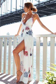 Glimmer Maxi Dress White