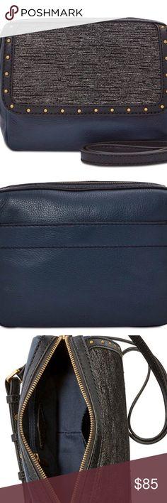 42ef7dafe8 Fossil Aria Color Block Leather Crossbody Handbag NWT