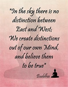 "11"" By 14"" Decorative Art Print ~ Buddhist Inspirational Quote: ""In the Sky there is no Distinction Between East & West...."" (Pink) EarthBench Studio http://www.amazon.com/dp/B00R9NMQAS/ref=cm_sw_r_pi_dp_sS.Nub0K8EYN0"