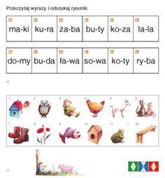 Znalezione obrazy dla zapytania nauka czytania sylabami do wydruku