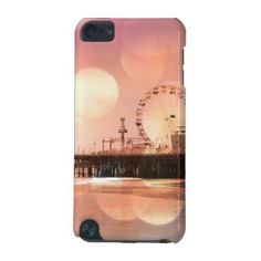 Santa Monica Pier Sparkling Pink Photo Edit iPod Touch 5g Case | iPod Touch 5th Generation Cases