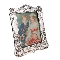 This early century antique silver photo frame is available to buy online now. Virgo And Cancer, Aquarius And Libra, Antique Vanity, Antique Silver, Art Nouveau Furniture, Asymmetrical Design, Objet D'art, Ceramic Decor, Photos