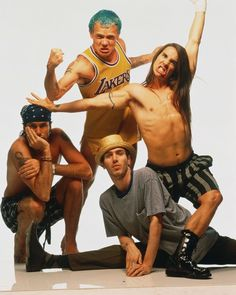 with the exception of the picture of the band wearing only socks on their penises, this is my favorite picture of rhcp!